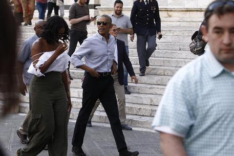 Barack Obama and Michelle in Siena